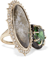 Alexis Bittar Gold-plated, crystal, enamel and stone ring
