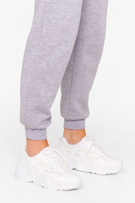 Nasty Gal Womens Young Hearts Run Free Chunky Lace-Up trainers - White - 3
