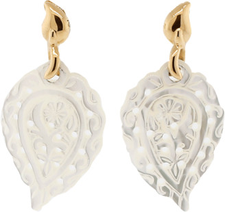 Tamara Comolli Carved India Leaf Mother Of Pearl Earrings