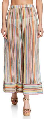 Missoni Mare Sheer Stripe Wide-Leg Coverup Pants