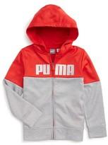Puma Boy's Logo Zip Hoodie