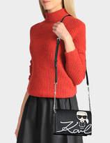 Karl Lagerfeld K/Ikonik Shoulder Bag in Black Technical Saffiano