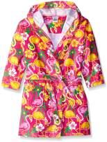 Komar Kids Girls Flamingo Print Cotton Terry Robe Cover Up, Kids Size XS(3/4)