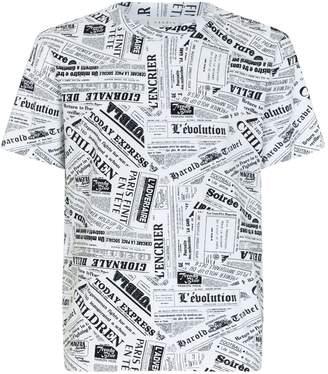 Sandro Newspaper Print T-Shirt