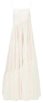 Matteau The Asymmetric Tiered Cotton-blend Maxi Dress - Ivory