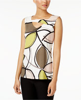 Nine West Cutout Printed Shell