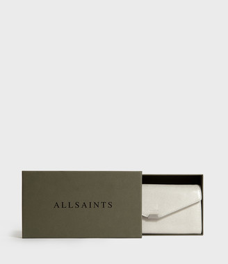 AllSaints Glitz Chain Wallet Leather Crossbody Bag