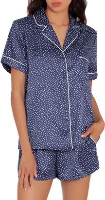 Winding Road Short Satin Pajamas