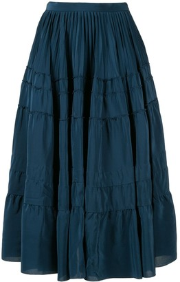 Rochas Tiered Midi Skirt