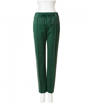 Valentino Green Cloth Trousers for Women