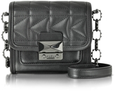 Karl Lagerfeld Black Leather Shoulder Bag
