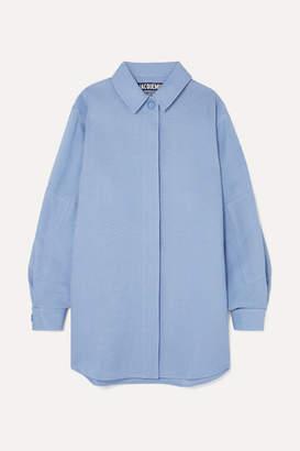 Jacquemus Loya Oversized Silk Shirt - Sky blue