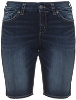 Silver Jeans Plus Size Suki denim bermuda shorts