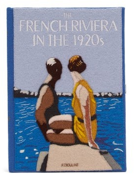 Olympia Le-Tan French Riviera Book Clutch - Blue Multi