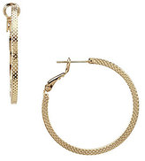 Dillard's Tailored Textured Hoop Earrings
