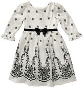 Youngland Young Land Floral-Print Knit Dress - Toddler Girls 2t-4t