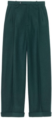 Gucci Felted wool wide-leg pant
