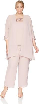 Le Bos Women's Size 3 Piece Pant Suit Plus