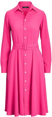 Polo Ralph Lauren Long-Sleeve Belted Shirtdress