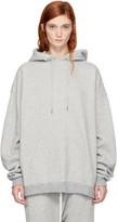 R 13 Grey Oversized Hoodie