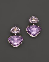 Vianna Brasil 18K Yellow Gold Earrings with Pink Amethyst, Amethyst and Diamond Accents