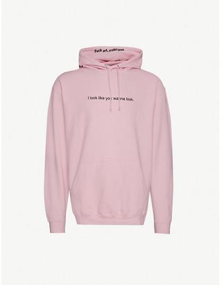 Famt Look Wanna Look cotton-jersey hoody