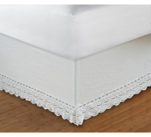 """Greenland Home Fashions Crochet Lace Bed Skirt 18"""" Twin"""