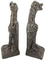 Private Label Concrete Decorative Bookends Large Concrete Gargoyle Dog Bookends Hounds Of Hell 3.75 X 15 X 5 Inches Gray Model # 4249-1-1-03-00-16