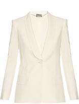 Alexander McQueen Shawl-lapel leaf-crepe tuxedo jacket