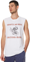 The Critical Slide Society Crafty As Hell Mens Muscle White