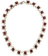 Robin Rotenier Garnet Link Station Necklace