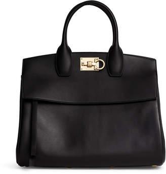 Salvatore Ferragamo The Studio black leather large bag