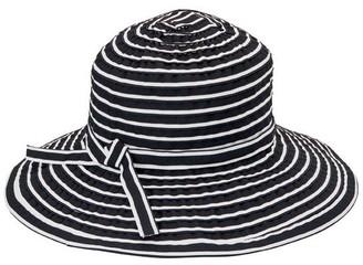 San Diego Hat Co. Striped Ribbon Braid Floppy Hat