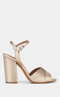 Tabitha Simmons Women's Kali Pleated Leather Sandals - Gold