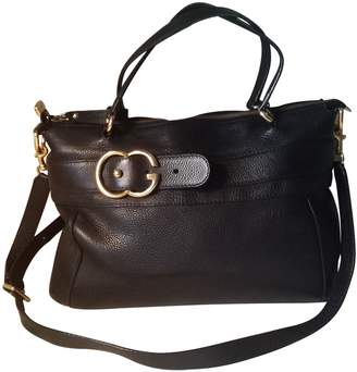 Gucci GG Running Brown Leather Handbags