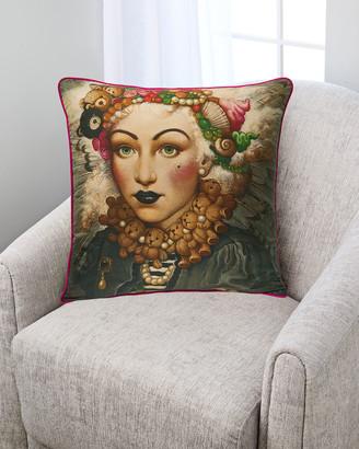 Yana Movchan Fashionista Silk Pillow