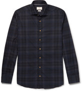 Hackett Slim-Fit Cutaway-Collar Checked Cotton Shirt
