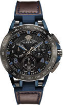 Versace Men's 45mm Sport Tech Chronograph Watch, Brown