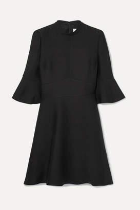 Valentino Wool And Silk-blend Crepe Mini Dress - Black