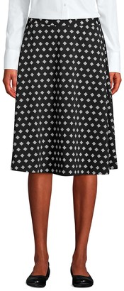 Lands' End Women's Print Knit Midi Skirt