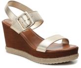 Italian Shoemakers Metallic Strap Wedge Sandal