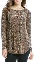 Karen Kane Women's Leopard Burnout Shirttail Tee