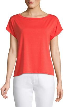 Eileen Fisher Tencel Jersey Cropped Top
