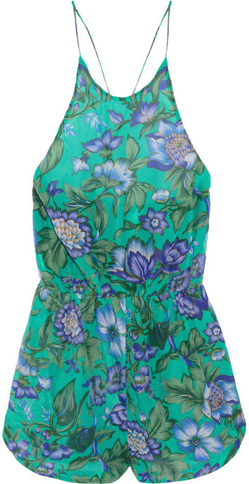 Zimmermann Oasis floral-print cotton and silk-blend playsuit