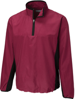 Cutter & Buck Maroon Follett Color Block Half-Zip Windshirt