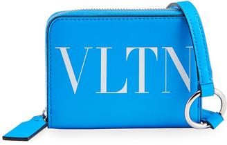 Valentino Men's VLTN Fluorescent Wallet/Crossbody Bag