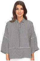 Adrianna Papell Oversized Drop Shoulder Blouse