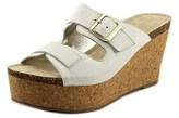 Kenneth Cole Reaction Women's Fro Pix Platform Wedge Sandal, White, Size 8.0.