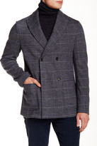 Ports 1961 Herringbone Double Breasted Peaked Lapel Blazer