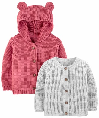 Simple Joys by Carter's 2-pack Neutral Knit Cardigan Sweaters Grey 18 Months Pack of 2